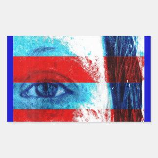 Yeux de l'Amérique Sticker Rectangulaire