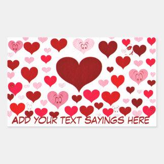 Yeux de Love_ Stickers Rectangulaires