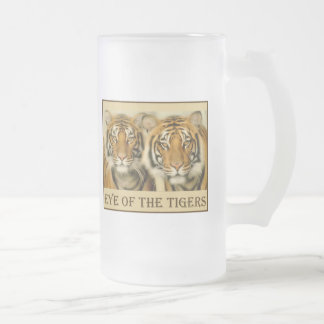 Yeux de tigre frosted glass beer mug