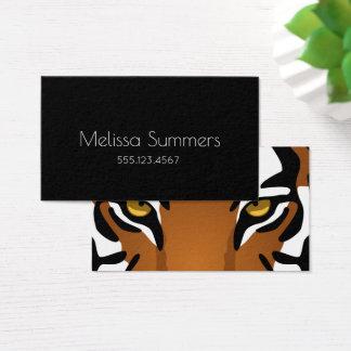 Yeux de tigre - personnel minimaliste noir cartes de visite