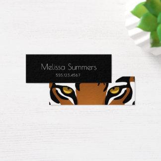 Yeux de tigre - personnel minimaliste noir mini carte de visite