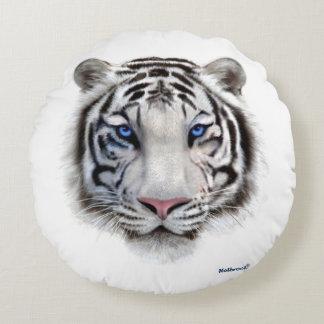 Yeux du tigre coussins ronds