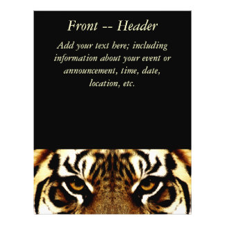 Yeux d'un tigre prospectus 21,6 cm x 24,94 cm