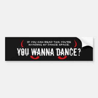 Yeux effrayants - vous voulez danser ? autocollant pour voiture