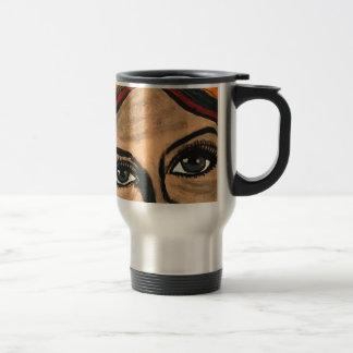 Yeux émouvants mug de voyage en acier inoxydable