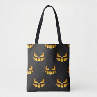 yeux et bouche halloween_Scary de citrouille Tote Bag
