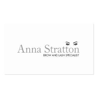 Yeux et salon et spa blancs simples de fronts carte de visite standard