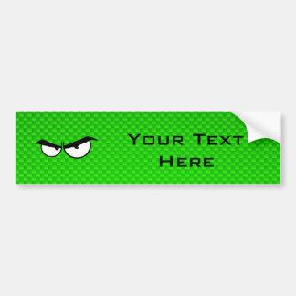 Yeux fâchés ; Vert Autocollant De Voiture