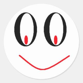 Yeux ivres de pays avec le sourire souriant d'un autocollants ronds