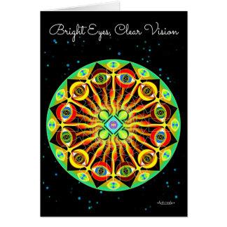 Yeux lumineux, vision claire carte de vœux