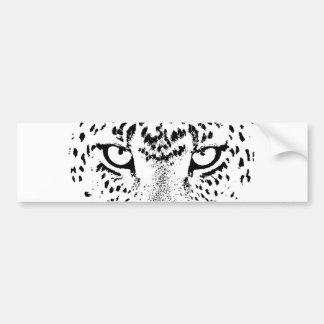 Yeux noirs et blancs de léopard autocollant pour voiture