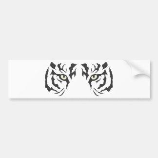 Yeux sauvages de tigre autocollant pour voiture