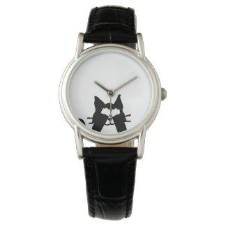 Yeux semi-transparents de bâche de chat de Kitty Montres Cadran