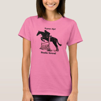 Yeux ! Talons vers le bas ! T-shirt de cheval
