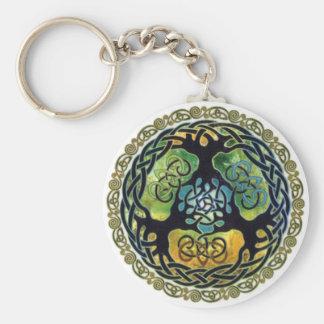 Yggdrasil /Tree de porte - clé de la vie Porte-clé Rond