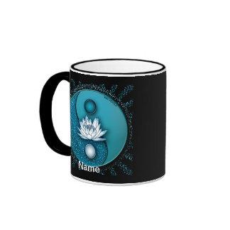 Yin bleu Yang Lotus Tasse