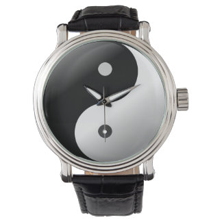 Yin en cuir vintage noir yang. de montre-bracelet montres bracelet