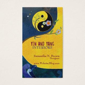 Yin et cartes de visite de design d'intérieur de
