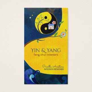 Yin et cartes de visite d'intérieur de Yang Feng