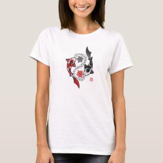 Yin et T-shirt de poissons de Yang Koi