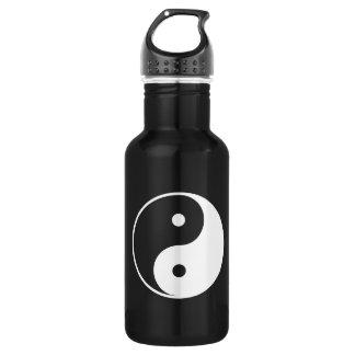 Yin et Yang noirs et blancs Bouteille D'eau