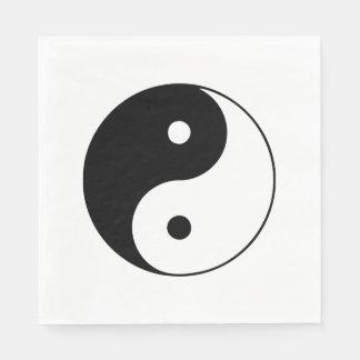 Yin noir et blanc classique et Yang Serviettes Jetables