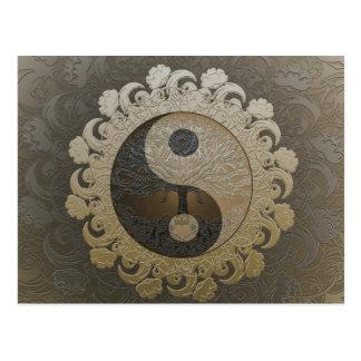 Yin Yang avec l'arbre de la vie par Amelia Carrie Carte Postale