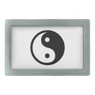 Yin Yang Boucles De Ceinture Rectangulaires
