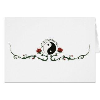 Yin Yang en nature Carte De Vœux