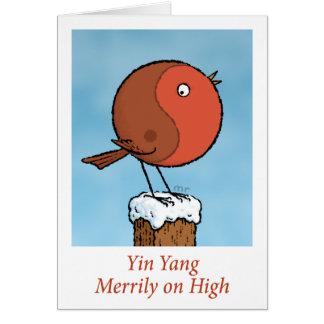 Yin Yang joyeux sur la haute carte