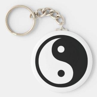 Yin Yang Porte-clé Rond