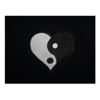 Ying Yang (produits de coeur de B&W) Carte Postale