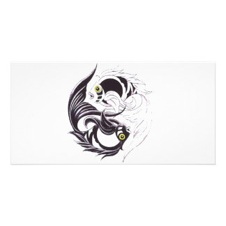 YingYang Koi Cartes Avec Photo