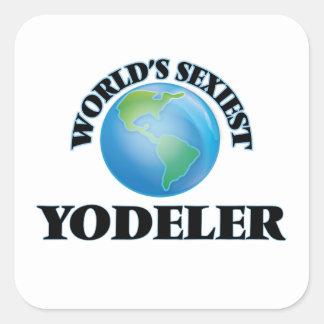 Yodeler le plus sexy du monde stickers carrés