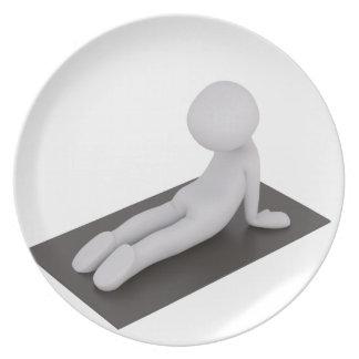 Yoga Assiettes En Mélamine