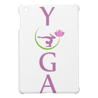 yoga avec un lotus rose coques iPad mini