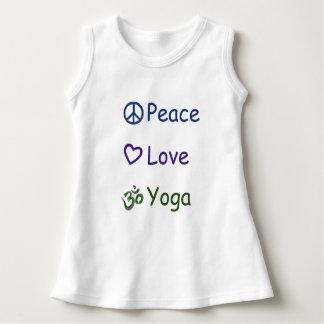 Yoga d'amour de paix robe sans manche