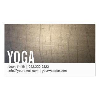 Yoga d'arrière - plan de zen carte de visite standard