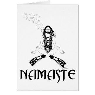 Yoga de scaphandre de Namaste Carte De Vœux