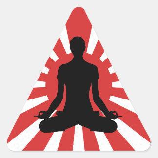Yoga de Soleil Levant 4 autocollants de pyramide