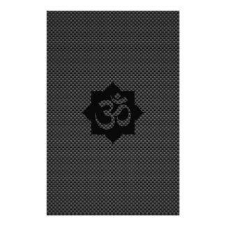 Yoga de spiritualité de Lotus de symbole d'OM dans Prospectus 14 Cm X 21,6 Cm