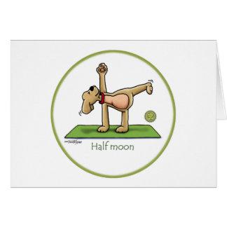 Yoga - demi-lune carte de vœux