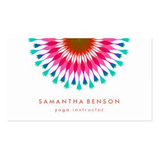 Yoga élégant de logo de fleur de Lotus Carte De Visite Standard