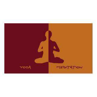 Yoga et méditation cartes de visite professionnelles