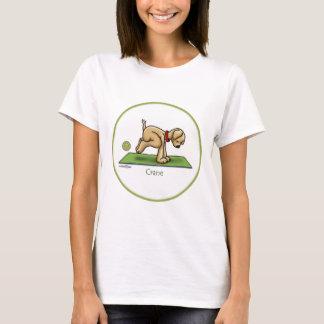 Yoga - la pose de grue t-shirt