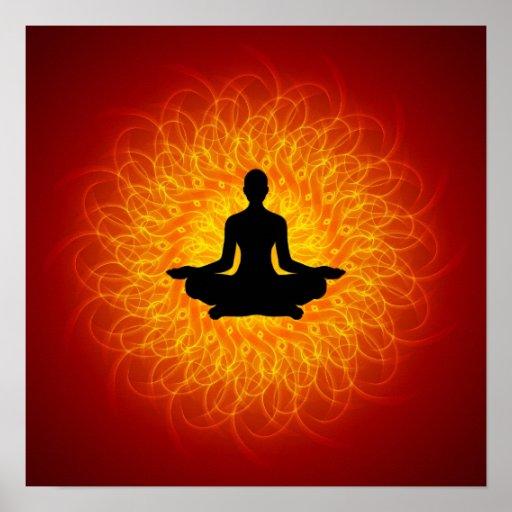 Yoga - méditation sur le mandala affiches