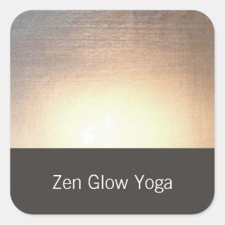 Yoga moderne de lueur de zen et arts curatifs sticker carré
