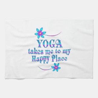 Yoga mon endroit heureux serviette éponge
