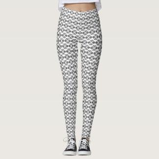 Yoga noir et blanc élégant de damassé leggings