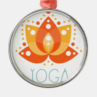 Yoga Ornement Rond Argenté